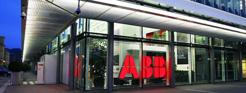 ABB logo on building